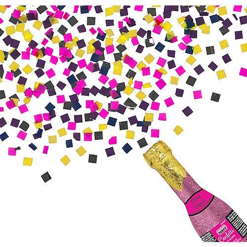 Glitter Pink Champagne Bottle Confetti Popper Image #1