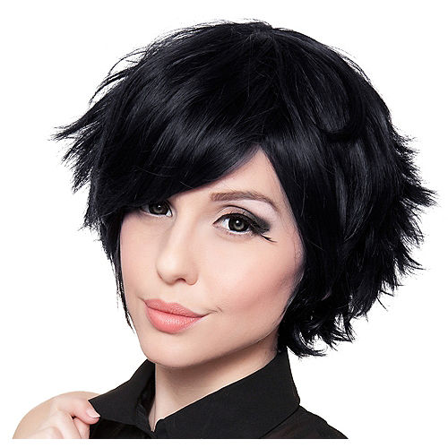 Short Black Wig Image #1