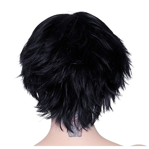 Short Black Wig Image #2