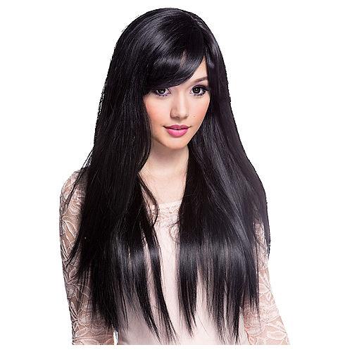 Stylish Long Black Wig Image #1