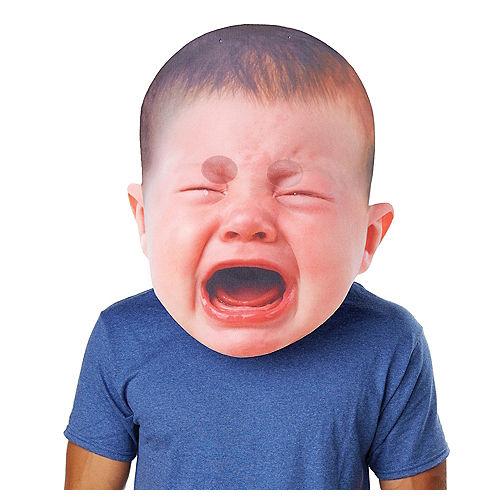 Adult Oversized Crying Baby Mask Image #1