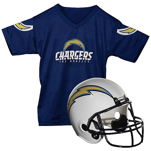 Child Los Angeles Chargers Helmet & Jersey Set Image #1