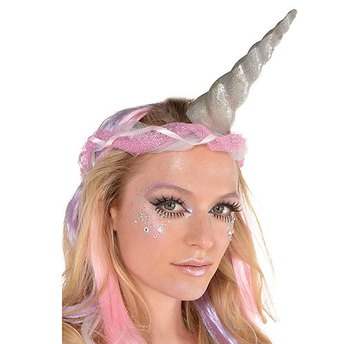Nav Item for Glitter Silver Unicorn Horn Image #2