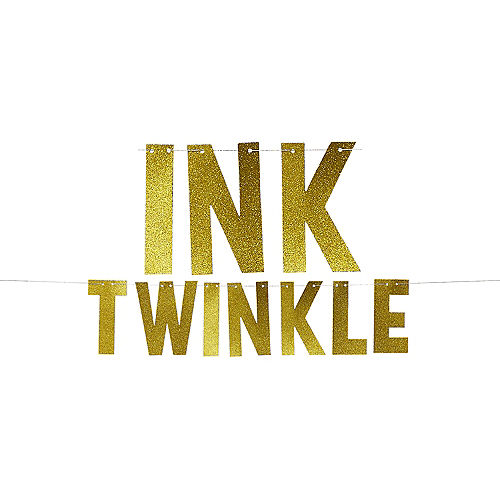 Glitter Gold Twinkle Letter Banner Image #1