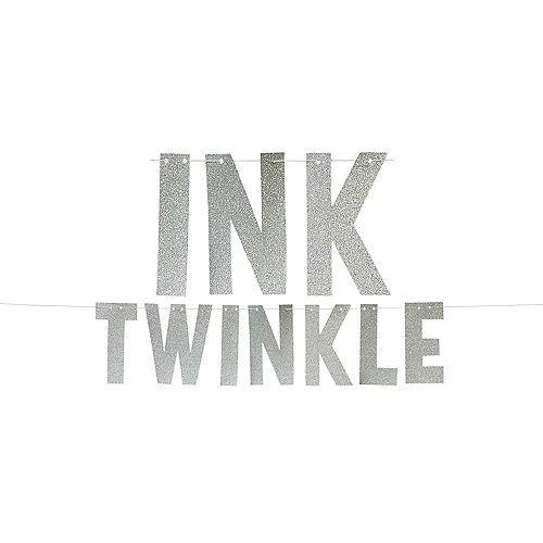 Glitter Silver Twinkle Letter Banner Image #1