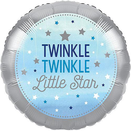 Blue Twinkle Twinkle Little Star Balloon Image #1
