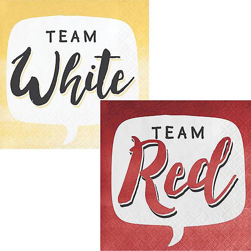 Team Red or Team White Beverage Napkins 16ct Image #1