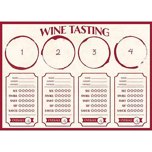 Wine Tasting Placemats 24ct Image #1