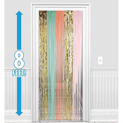 Pastel & Gold Fringe Doorway Curtain Image #1