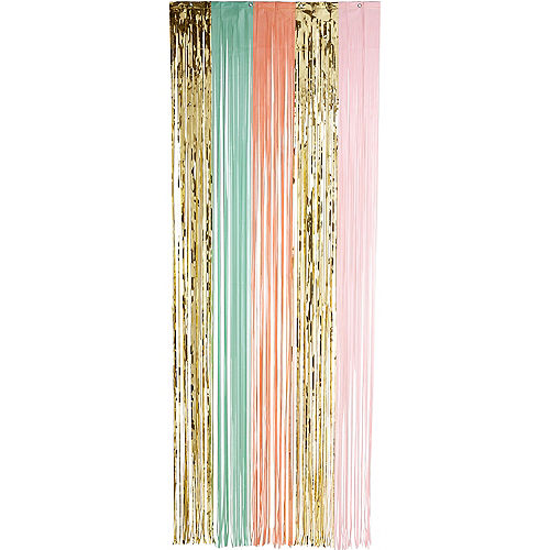 Pastel & Gold Fringe Doorway Curtain Image #2