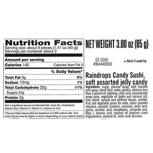 Mini Sushi Gummy Candy 9pc Image #3