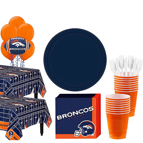 Super Denver Broncos Party Kit for 36 Guests Image #1
