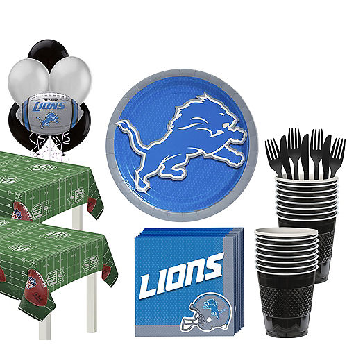 Super Detroit Lions Party Kit for 36 Guests Image #1