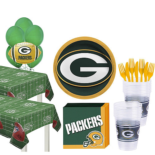 Super Green Bay Packers Party Kit for 36 Guests Image #1