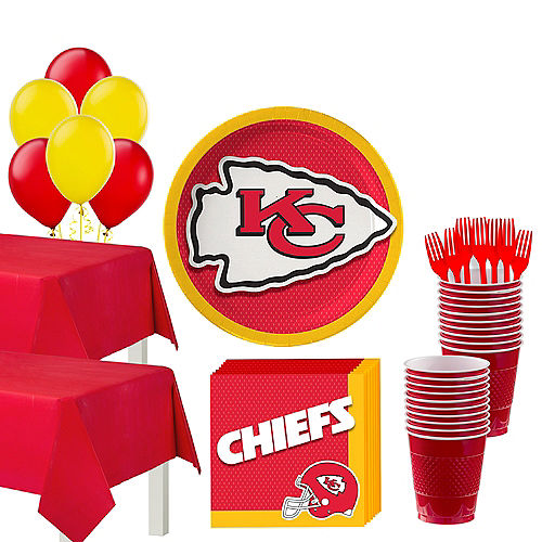 Super Kansas City Chiefs Party Kit for 36 Guests Image #1