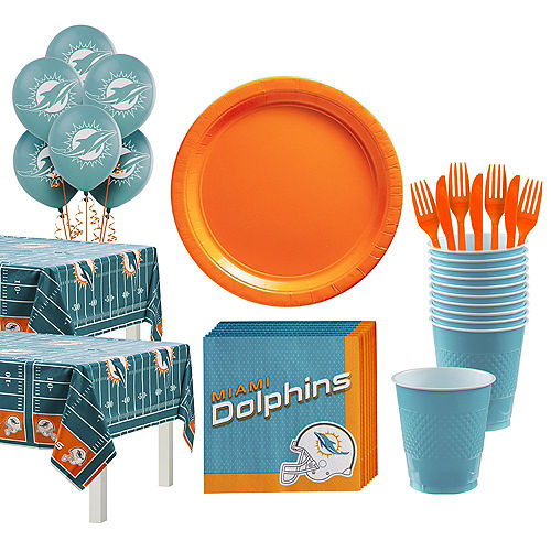 Super Miami Dolphins Party Kit for 36 Guests Image #1