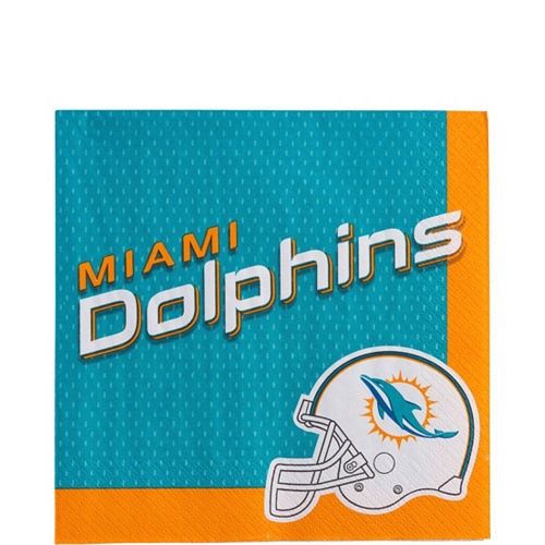 Super Miami Dolphins Party Kit for 36 Guests Image #3