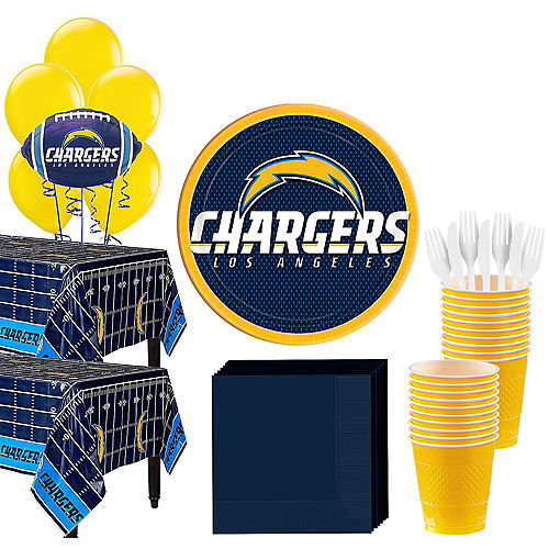 Super Los Angeles Chargers Party Kit for 36 Guests Image #1