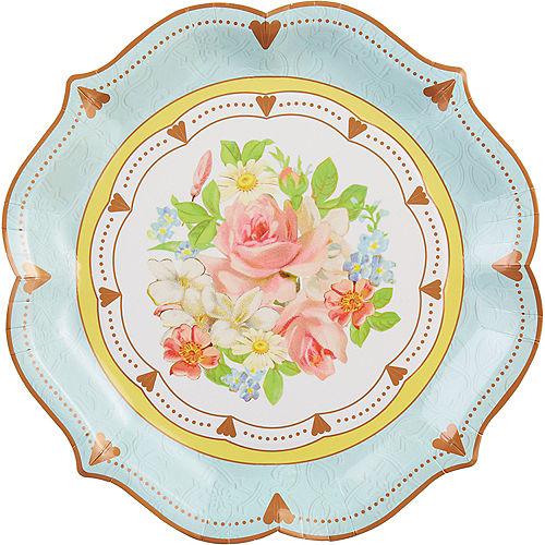 Floral Tea Party Ornate Serving Plates 8ct Image #1