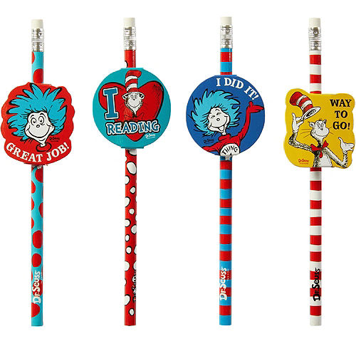 Cat in the Hat Pencils 12ct - Dr. Seuss Image #1