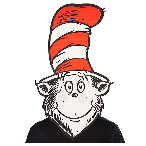 Oversized Cat in the Hat Mask - Dr. Seuss Image #1