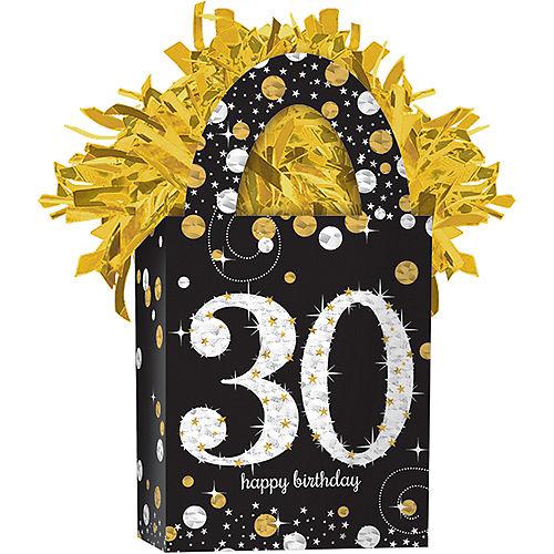 Prismatic 30th Birthday Balloon Weight - Sparkling Celebration Image #1
