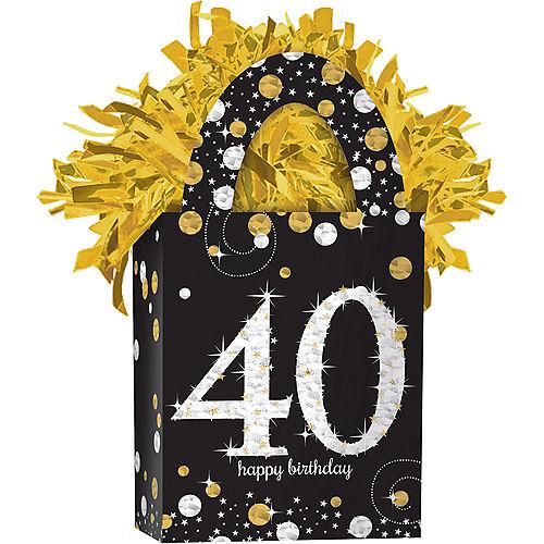 Prismatic 40th Birthday Balloon Weight - Sparkling Celebration Image #1