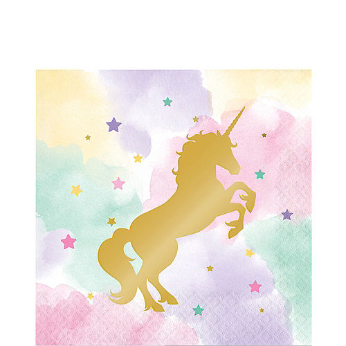 Sparkling Unicorn Lunch Napkins 16ct Image #1