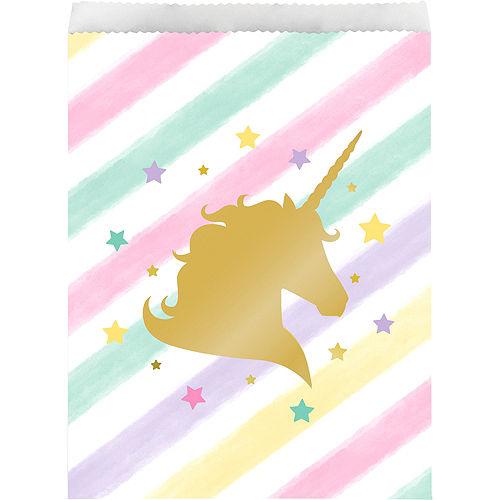Sparkling Unicorn Treat Bags 10ct Image #1