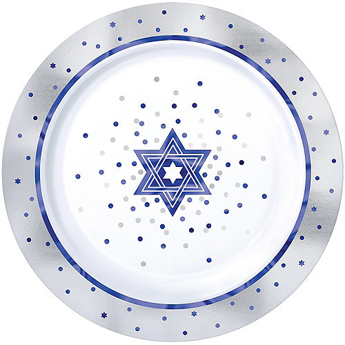 Happy Passover Premium Plastic Dinner Plates 10ct Image #1