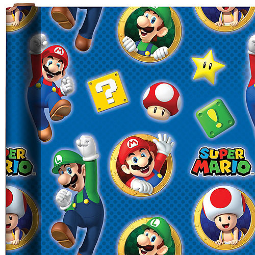 Super Mario Gift Wrap Image #1