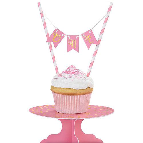 Mini Pink 1st Birthday Cake Stand Kit 2pc Image #1