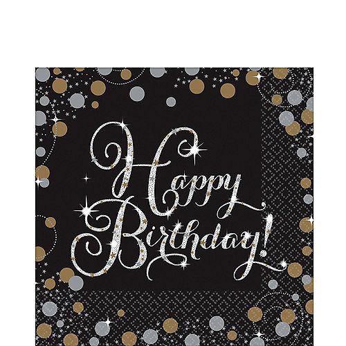 Happy Birthday Lunch Napkins 16ct - Sparkling Celebration Image #1