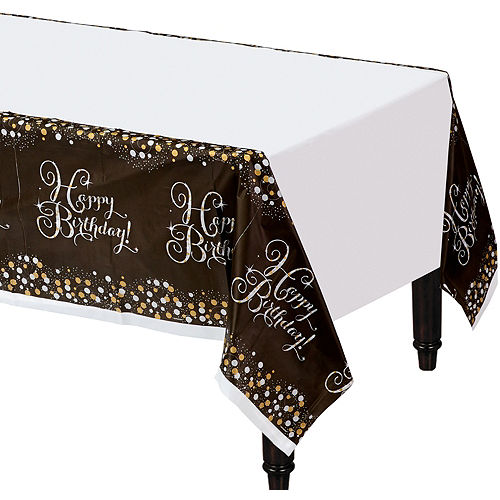 Happy Birthday Table Cover - Sparkling Celebration Image #1