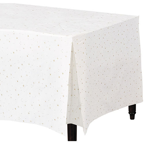 Gold Star Flannel-Backed Vinyl Fitted Tablecloth Image #1