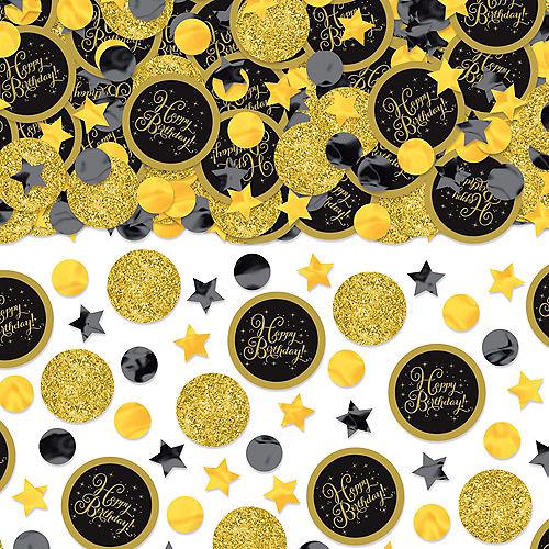 Black & Gold Birthday Confetti Image #1