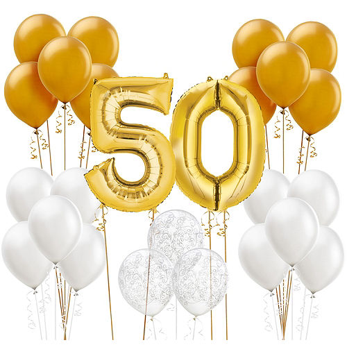 50th Anniversary Balloon Kit Image #1