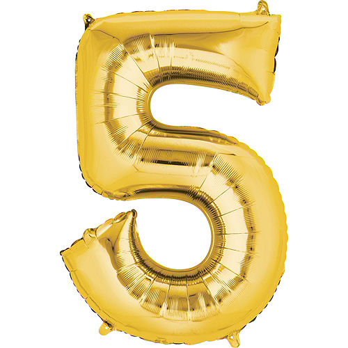 Moana 5th Birthday Balloon Bouquet 5pc Image #3