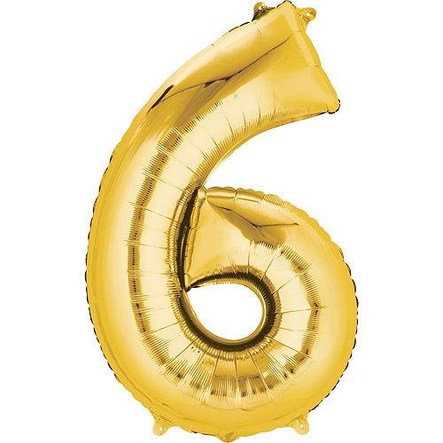 Moana 6th Birthday Balloon Bouquet 5pc Image #3
