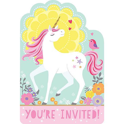 Magical Unicorn Invitations 8ct Image #1