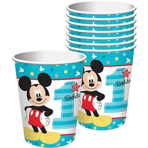 1st Birthday Mickey Mouse Party Kit for 32 Guests Image #6