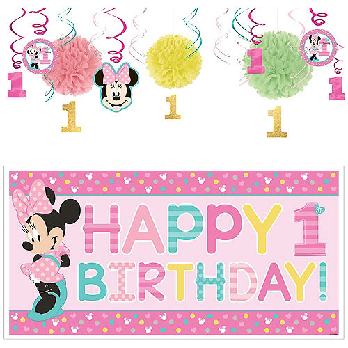 1st Birthday Minnie Mouse Decorating Kit Image #1