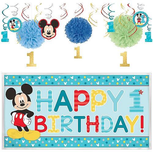 1st Birthday Mickey Mouse Decorating Kit Image #1