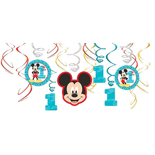 1st Birthday Mickey Mouse Decorating Kit Image #2