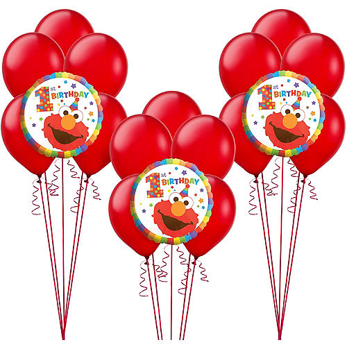 1st Birthday Elmo Balloon Kit Image #1