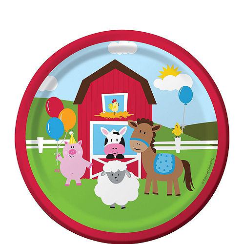 Farmhouse Fun 1st Birthday Deluxe Party Kit for 32 Guests Image #2