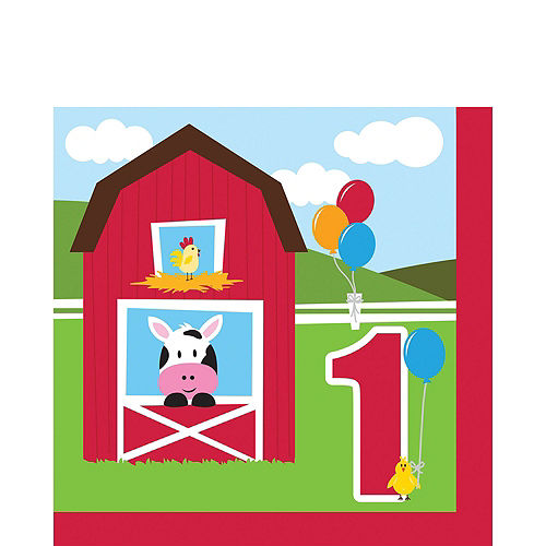 Farmhouse Fun 1st Birthday Deluxe Party Kit for 32 Guests Image #5