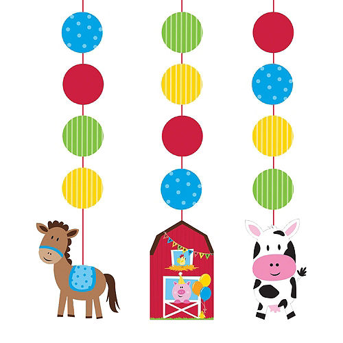Farmhouse Fun 1st Birthday Deluxe Party Kit for 32 Guests Image #10