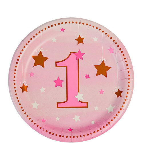 Pink Twinkle Twinkle Little Star 1st Birthday Deluxe Party Kit for 32 Guests Image #2