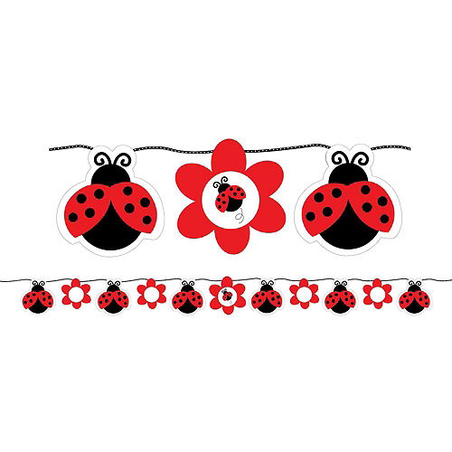 Fancy Ladybug 1st Birthday Decorating Kit Image #2